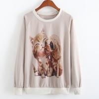 New 2015 Autumn Hoodies Women Sport Suit Pullovers Hoody Swearshirt Fleece thin style Moleton Feminino Coat Camisolas