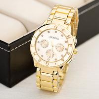 Geneva Alloy Relogio Wristwatches Rhinestone Business Watches Dress Quartz Watch Relogio Feminino For Women Christmas Gift