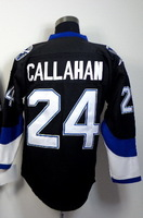 Free shipping new Hockey jerseys 24 Ryan Callahan black Hockey Jersey All Stitched Size 48-56 can mix order