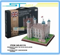 LINGLESI B119 3D puzzle paper craft Tower of London DIY 3D three-dimensional puzzle Building model Educational Toy low shipping