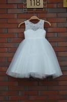 New 2014 Quality children's clothing flower girl dresses Free shipping