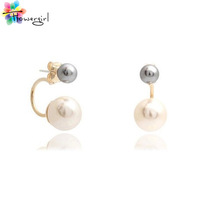 New 2014 Hot Sale Double Side Stud Earrings Fashion Accessories For Women [5079]