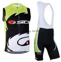 Free shipping! SIDI Castelli 2014 sleeveless cycling vest bib shorts set bike bicycle wear clothes gilet pants,gel pad