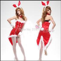 Chrismas! sexy lingerie uniform role-playing clothes female rabbit  temptation dress costumes, Free shipping