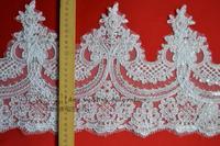 22 cm wide mesh corded lace sequins eyelash lace wedding dress lace