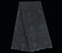 No.ASL41-3,african style popular african swiss voile lace,high quality guipure lace fabric black !