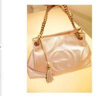 Hot Sale 2014new women's handbag PU fashion vintage chain tassel shoulder bag Free shipping