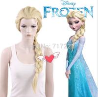 Frozen wig popular cartoon girl Hair Wigs children Cosplay Wigs Elsa / Anna princess white fluffy long hair single plait