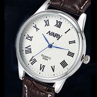 Fashion Jewelry Leather Strap Analog Quartz Watch Men Fashion Casual Wristwatch Men Dress Watches Relogio Masculino 6084