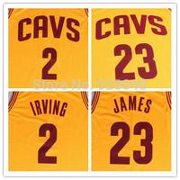 Newest!2014-2015 Season New Style Cleveland James Jersey , Cleveland #23 Lebron James Yellow Road Basketball jersey,S-XXL