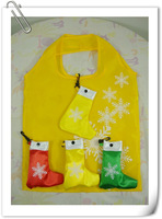 christmas series enviroment folding shopping bag