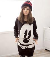 Sport Tracksuit Women New Tops Ladies Mouse Printed Hoodies Plus Size Sweatshirt Sudaderas Plus Size Sweaters T18-44