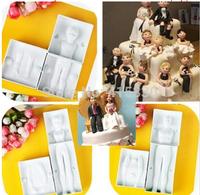 3 sets 3D Man, Women ,Child Shape Modeling Cake Decorating tools Fondant Cutter Gum Paste Mold