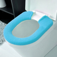 Housewares 95*16CM Candy colored thick coral velvet buttons warm Toilet seat cushion toilet set potty mat free shipping A829