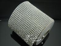 free shipping Fashion handicrafts  22Row hotfix crystal clear rhinestone cover/skin Cloth Appliques