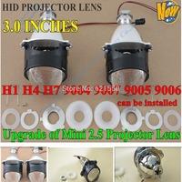 WST Bi xenon Len 3 Hid Bi-xenon Headlight Projectors Lens,Car Hid Bi-xenon Projector Lens Light,Bi Xenon Projector Len H1 H7 H4