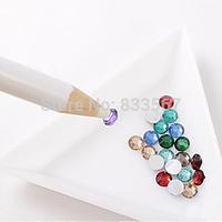 Nail Art Rhinestones Gems Beads Picking Tools Pencil Pick Up Pen Painting T0923 Y