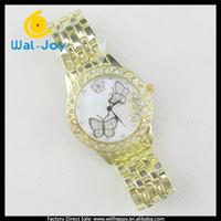 50/lot alibaba express pretty butterfly face vogue popular ladies wrist watch(WJ-2778)