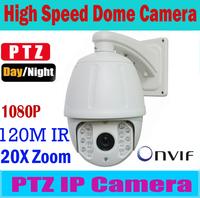Hot Sales! 2.0Megapixel Full HD 1080P PTZ IP Camera Outdoor Waterproof 20x Zoom 150m IR Cut Support Onvif, P2P