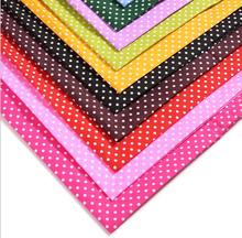 12pieces / lot, tamanho 20cm x 30 centímetros , tecido de alta qualidade preço barato dot , melhores tecidos para patchwork diy(China (Mainland))
