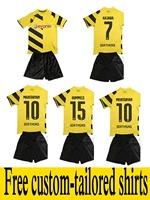 REUS 14 15 Borussia Dortmund kids soccer football jersey kits,best quality BVB MKHITARYAN KAGAWA HUMMELS soccer uniforms jerseys