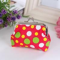 Hot Sale Bright Color PU Coin Purse Women Wallet Storage Change Purse Plaid Bag in Bag Clutch 4 Color Mixed Sale 60pcs/lot