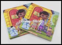 Food-grade Doc Mcstuffins Paper Napkin For Children Festive & Party Girl Tissue Napkisn Decoration Paper 33cm*33cm 1pack/lot