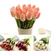 2014 30PCS/LOT pu mini tulip flower real touch wedding flower artificial flower silk flower home decoration