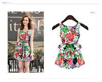 7121 2014 fashion popular flower one-piece dress