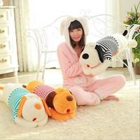 2014 free shipping 70cm Dog plush toy dog doll Large sleeping pillow dog big head dog pillow girls gift