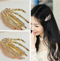 1 Pc Fashion CZ Decor Skeleton Claw Hairpins For Women Fashion Hair Jewelry Hair clips
