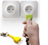 Free shipping Fashion Oualy Unplugged  key ring unplug keyring multicolor