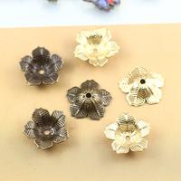 16*4mm mix wholesale tibetan metal bead cap jewelry findings, copper antique bronze bead caps, filigree flower gold bead caps