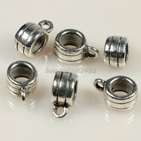 Wholesale 50pcs/lot Tibetan Silver Tone Cup Connectors Bails Jewelry Findings for diy jewelry making,HJ27