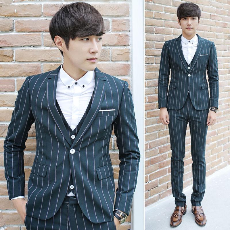 Mens Green Suit Jacket Suit Men Stripe Green