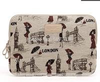 Pop Fashion grils canvas Laptop Sleeve Case  12,13,14,15 inch laptop Bag