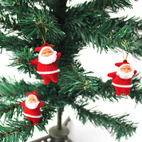 20pcs/lot Cute Xmas Decor Santa Claus Ornament Hanging Christmas Decoration Toys Free shipping  T1206 P