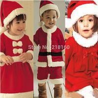 Wholesale High Quality 2-8 years Baby Santa Suit Boy Novelty Costume Christmas clothing sets 1set