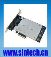 SINTECH 4port SATA 3+ NGFF(m.2) PCI-E express X4 Card Marvell 9235