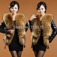 Hot Sales Luxury Women Faux Fur Genuine leather Winter Overcoat Jacket fur rex Short Coat Clothes Plus Size S-XXXL