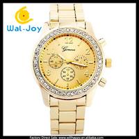 100/lot alibaba express vogue pretty diamonds cheap Geneva women watch(WJ-2781)