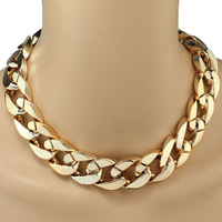 Resuli1PC Shiny Link ID Celebrity Style Alloy Choker Necklace Chunky Chain Free Shopping & Wholesales