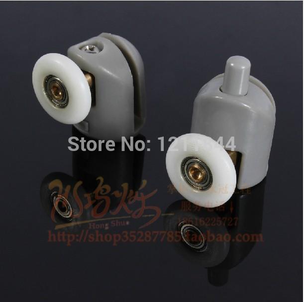 8pcs Shower Door Roller Runners Wheels Plastic Pulley 25mm Diameter(China (Mainland))