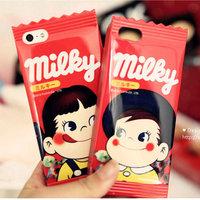 New Arrival Cute Cartoon Milk Case For iphone 6 Mobile phone Case For iphone6 4.7'' Soft Silicone Phone Back Case