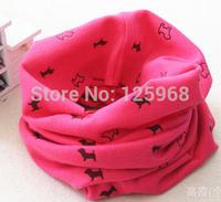 Free Shipping 2014 Kids Boys Girls Scarf Autumn Winter Scarves Animal Dog Pattern Cotton Neck Warmer Children Baby Accessories