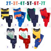 October Children's clothing wholesale 220660 BOYS autumn home long-sleeve T-shirt + Pants casual 2 piece sets 6set/lot