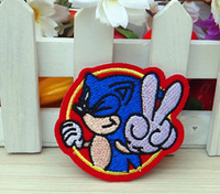 Free shipping 5.9*5.5cm Cartoon Hedgehog Iron On Or Sew On Patch Embroidery Diy Accessories 10pcs/lot 082007072