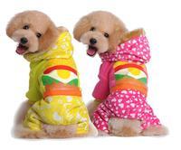 New sales Christmas  Contrast pink/yellow Hamburg cute dog cat warm cloth