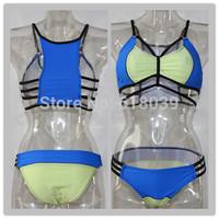 B507 Bandages Patchwork Swimwears For Women 2014 Sexy Triangle bikini set Push Up Brand Biquini Beach Wear Bathing Suit 2014 New