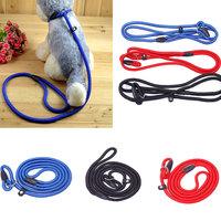 New Adjustable Colorful Nylon Rope Pet Dog Slip Training Leash Walking Collar #65613